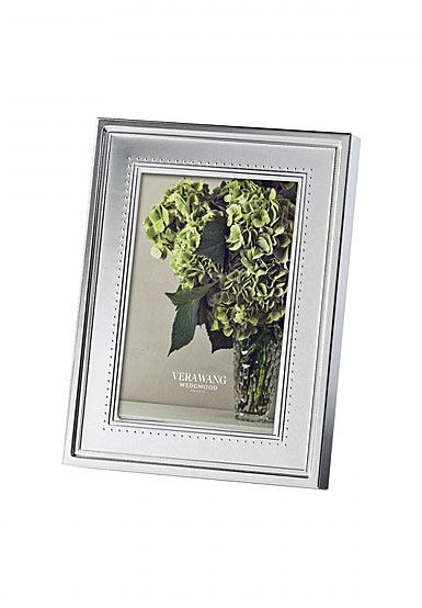 "Vera Wang Wedgwood Grosgrain 4""x6"" Picture Frame"