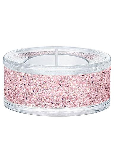 Swarovski Shimmer Pink Tea Light Holder, Single