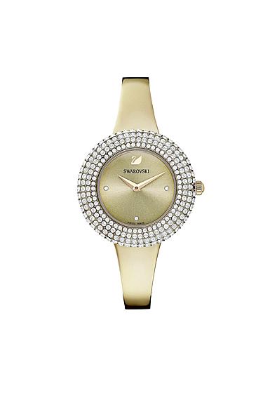 Swarovski Crystal Rose Watch, Metal Bracelet, Golden, Champagne-gold tone
