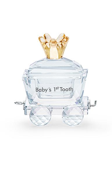 Swarovski First Steps Baby's 1st Tooth Wagon