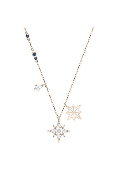 Swarovski Symbolic Star Pendant, White, Rose Gold