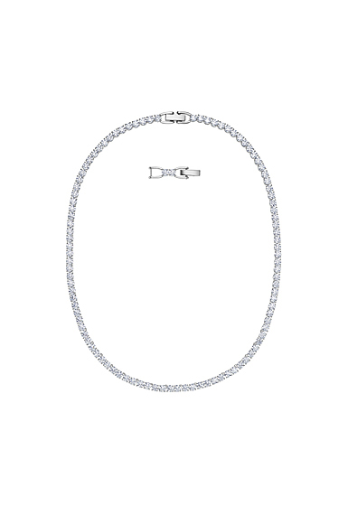 Swarovski Tennis Deluxe Necklace, White, Rhodium