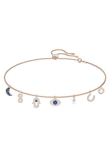 Swarovski Symbolic Necklace, Multi Colored, Rose Gold