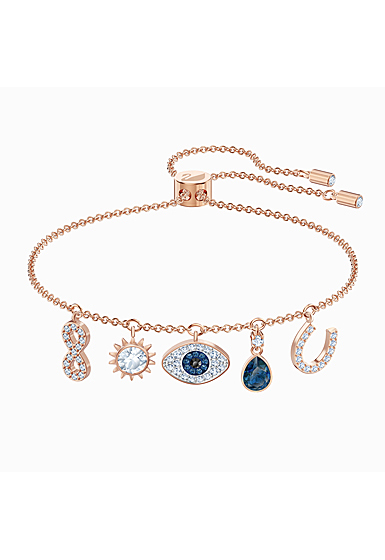 Swarovski Symbolic Bracelet, Multi Colored, Rose Gold