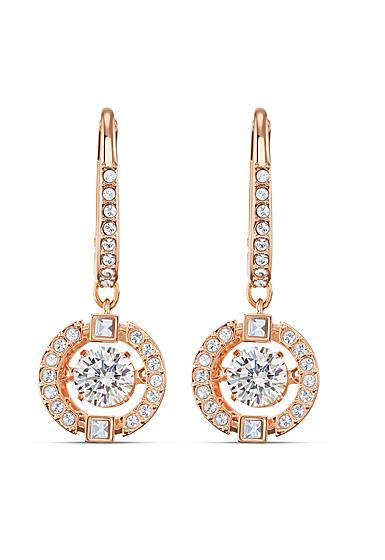 Swarovski Sparkling Dance Pierced Earrings Drop Crystal Rose Gold 2.0