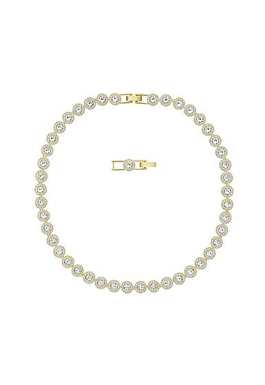 Swarovski Angelic Necklace, White, Gold