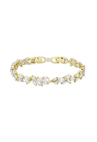 Swarovski Louison Bracelet, Clear, Gold