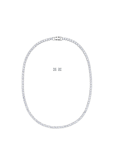 Swarovski Tennis Deluxe Set, White, Rhodium