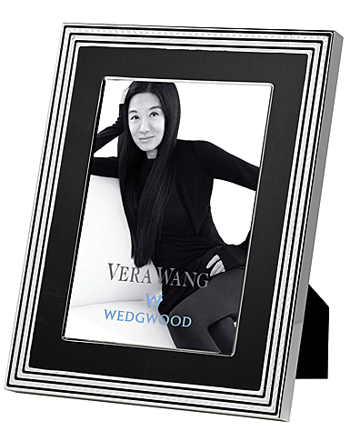 """Vera Wang Wedgwood With Love Noir 5""""x7"""" Picture Frame"""
