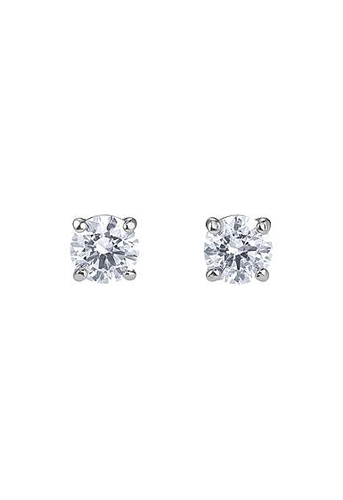 Swarovski Attract Stud Pierced Earrings, White, Rhodium