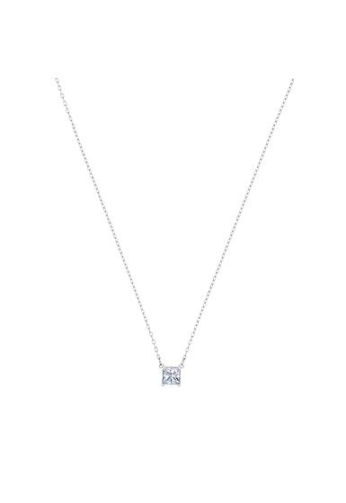 Swarovski Attract Necklace, White, Rhodium