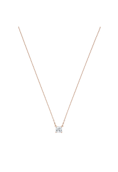 Swarovski Attract Necklace, White, Rose Gold