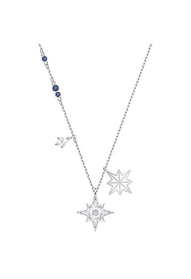 Swarovski Symbolic Star Pendant, White, Rhodium