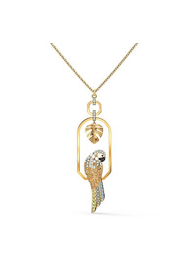Swarovski Necklace Tropical Necklace Parrot Light Multi Gold