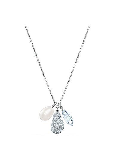 Swarovski Necklace So Cool Necklace Heart Crystal Rhodium Silver