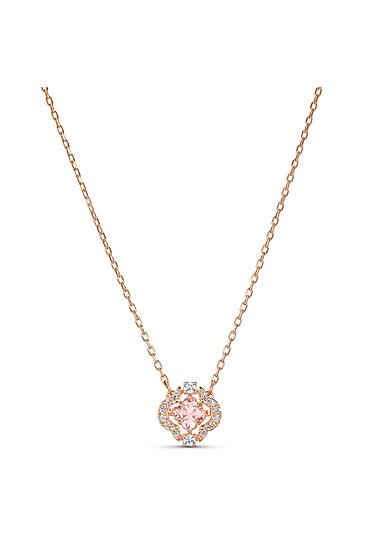 Swarovski Necklace Sparkling Dance Necklace Crystal Rose Gold