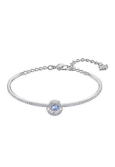Swarovski Sparkling Dance Bangle, Blue, Rhodium
