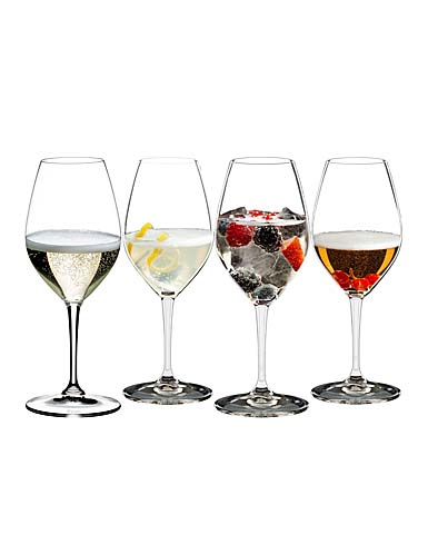 Riedel Mixing Champagne Glasses Tasting Set of Four