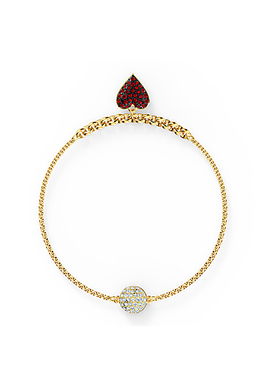 Swarovski Bracelet Remix Strand Red Heart Gold M