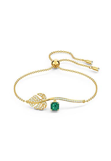Swarovski Emerald Crystal and Gold Tropical Bracelet