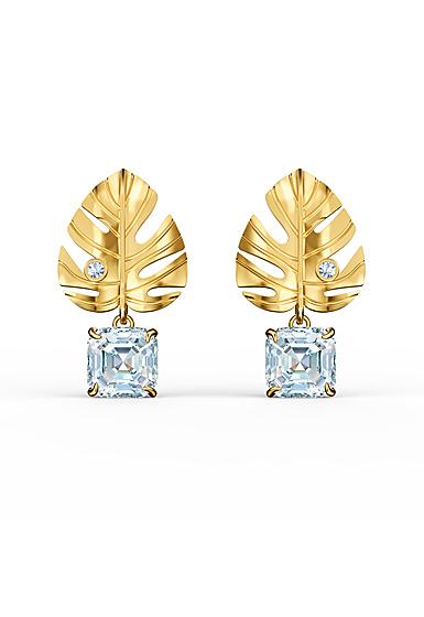 Swarovski Tropical Pierced Earrings Gold