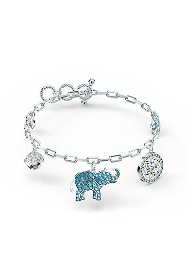 Swarovski Bracelet Symbol Elephant Light Multi Rhodium Silver M