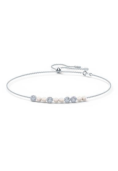Swarovski Rhodium Silver and Crystal So Cool Choker Necklace