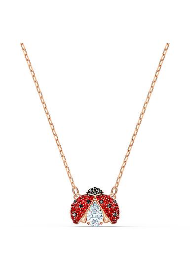 Swarovski Necklace Sparkling Dance Necklace Light Multi Gold