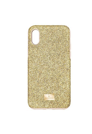 Swarovski Mobile Phone Case High iPhone X Case Gold Stainless Steel Shiny Gold