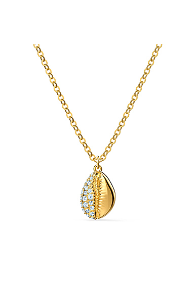 Swarovski Gold and Crystal Shell Pendant Necklace