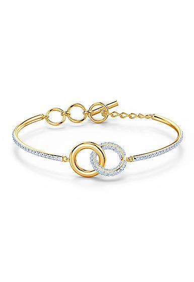 Swarovski Bracelet Stone Bangle Chain Crystal Mix Gold M