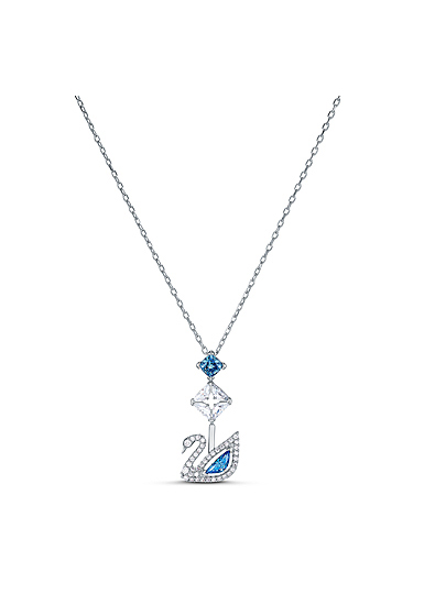 Swarovski Necklace Dazzling Swan Necklace Y Crystal Fuschia Rhodium Silver