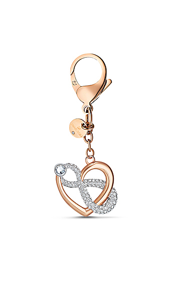 Swarovski Small Accessories Infinite Bag Charm Multi Rose Gold