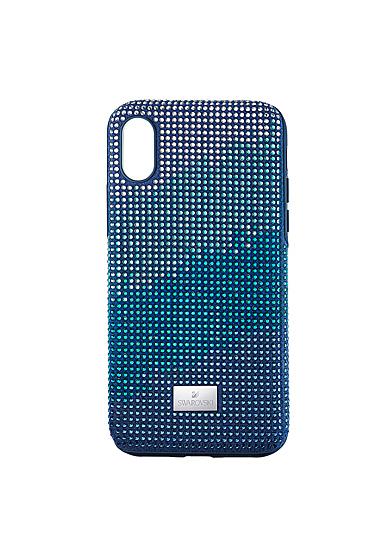 Swarovski Mobile Phone Case Crystalgram iPhone X Case Blue Anniversary