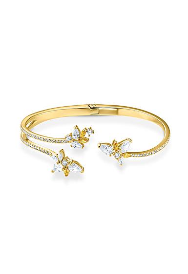 Swarovski Bracelet Botanical Cuff Gold M
