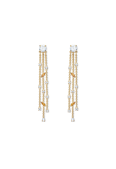 Swarovski Botanical Pierced Earrings Tassel Gold