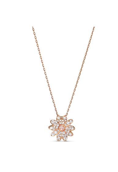 Swarovski Necklace Eternal Flower Pendant Crystal Rose Gold
