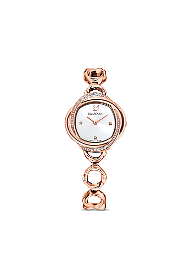 Swarovski Crystal Flower Watch, Metal Bracelet, Rose Gold Tone, Rose Gold Tone