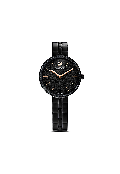 Swarovski Cosmopolitan Watch, Metal Bracelet, Black, Black