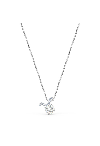 Swarovski Zodiac Pendant Necklace, Taurus, White, Mixed Metal Finish