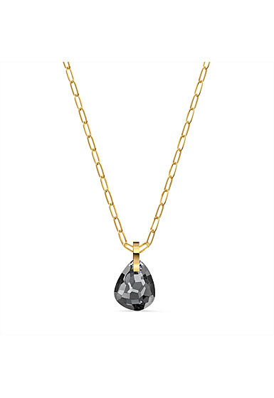 Swarovski T Bar Pendant Necklace, Gray, Gold Tone Plated