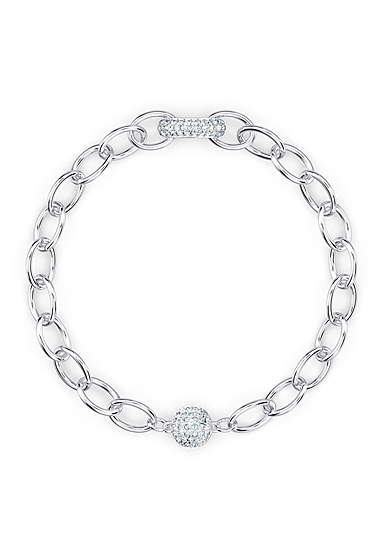 Swarovski The Elements Chain Bracelet, White, Rhodium Plated