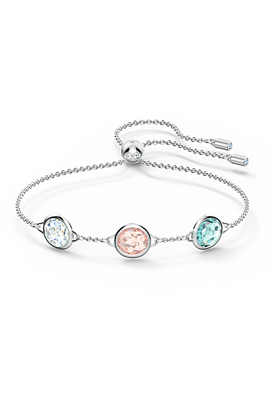 Swarovski Tahlia Bracelet, Multicolored, Rhodium Plated