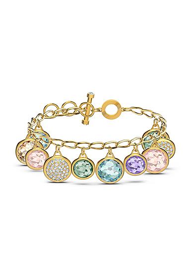 Swarovski Tahlia Elements Bracelet, Multicolored, Gold Tone Plated