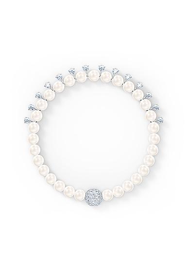 Swarovski Treasure Pearl Bracelet, White, Rhodium Plated