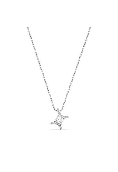 Swarovski Zodiac Pendant Necklace, Gemini, White, Mixed Metal Finish