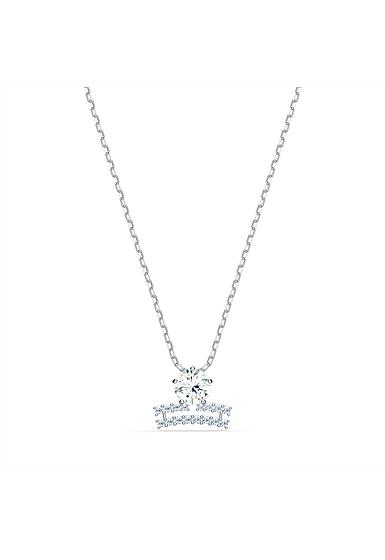 Swarovski Zodiac Pendant Necklace, Libra, White, Mixed Metal Finish