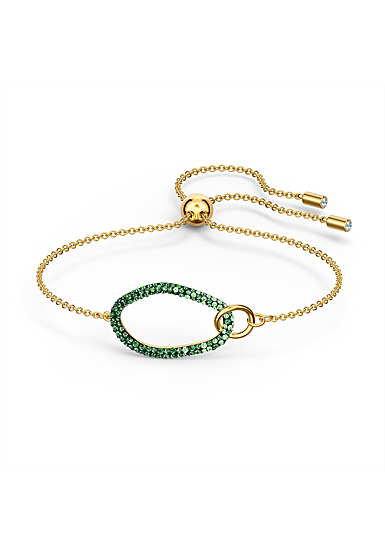 Swarovski The Elements Bracelet, Green, Gold Tone Plated