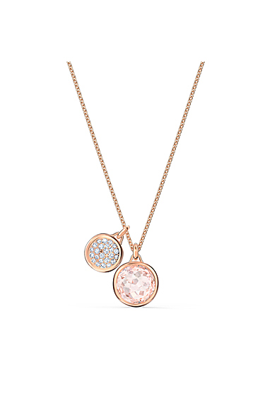 Swarovski Tahlia Doble Pendant Necklace, Pink, Rose Gold Tone Plated