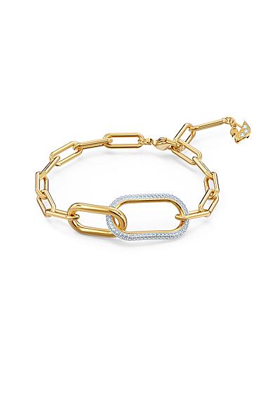 Swarovski Crystal and Gold Time Bracelet